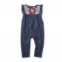 Begonia Embroidered Romper