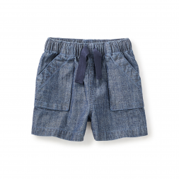 Chambray Short 'n' Sweet Pull-On Shorts
