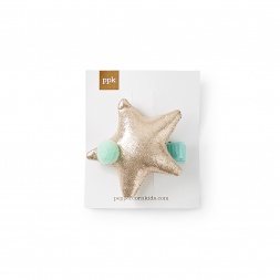 Peppercorn Kids Star Pom Hair Clip
