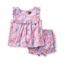 Red Mallee Flower Dreaming Baby Outfit