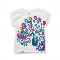 India Peacock Graphic Tee