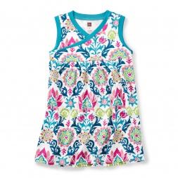 India Holi Wrap Neck Dress