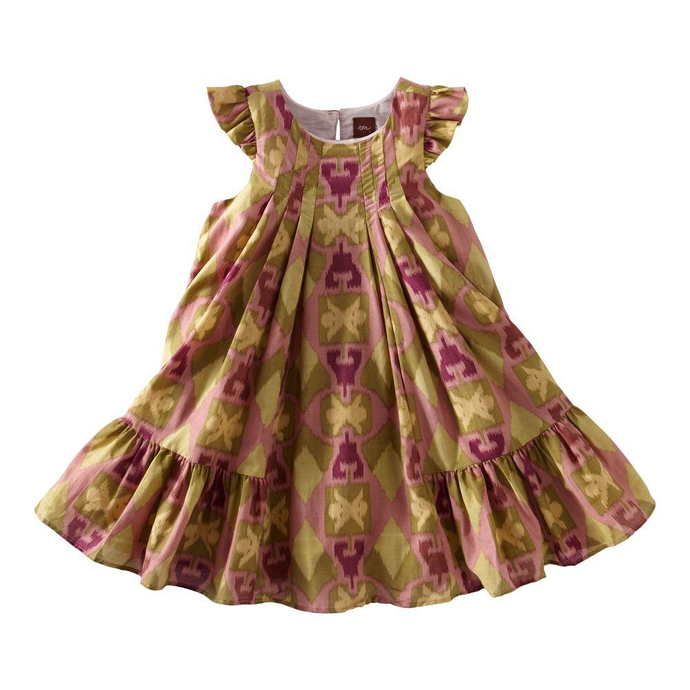 Tea Collection Endek Ikat Flutter Dress