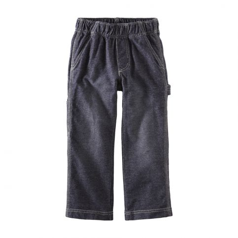 Denim Look Carpenter Pants