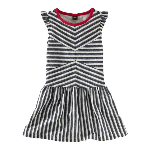 Zebra Stripe Flutter Dress