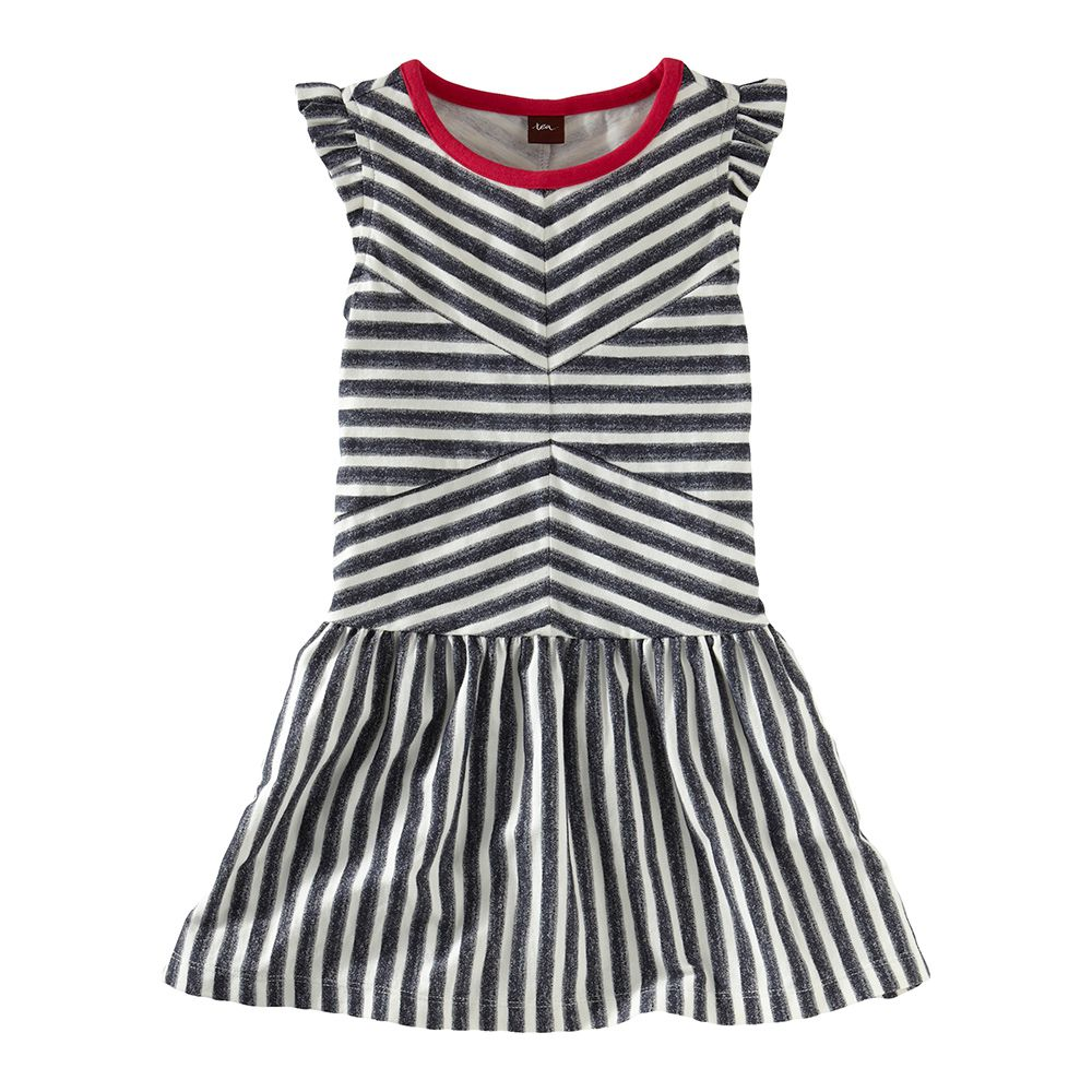 Tea Collection Zebra Stripe Flutter Dress