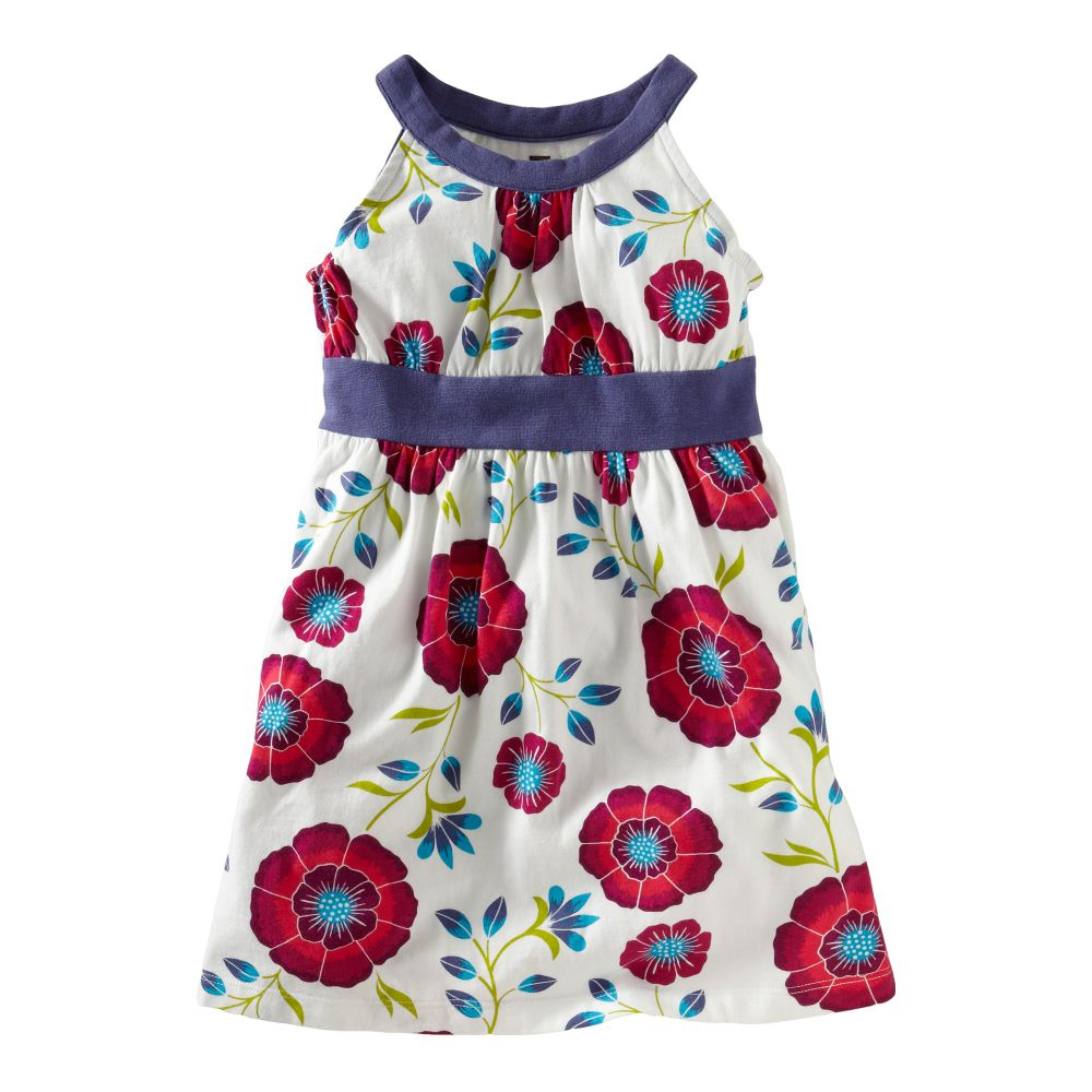 African Poppy Halter Dress