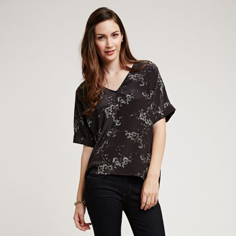 Fan Blossom Silk Tee
