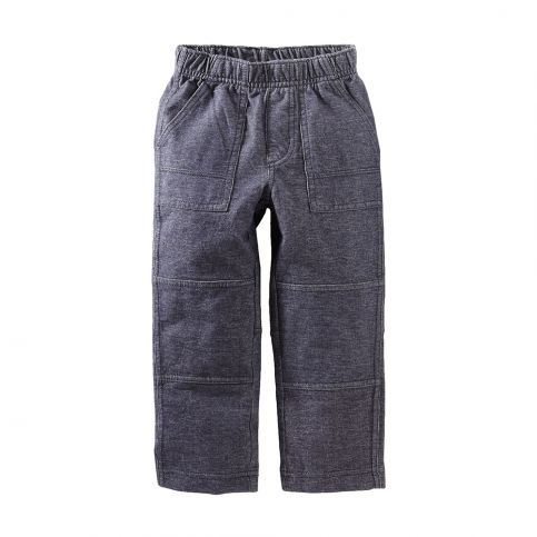 Denim Like Knit Playwear Pant