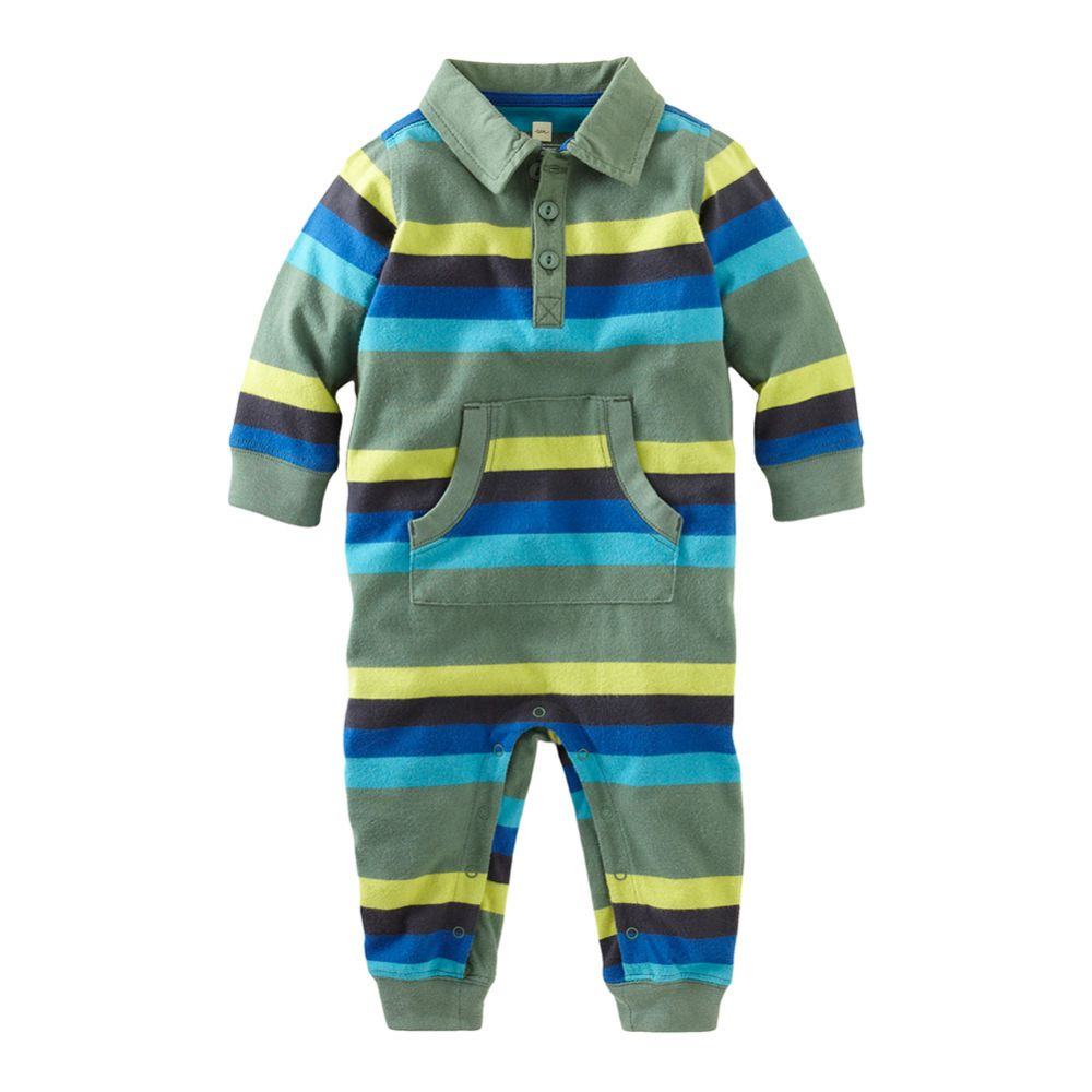 Tea Collection Moganshan Stripe Polo Romper