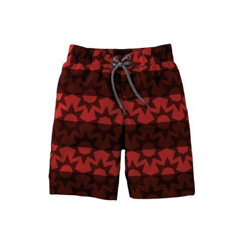 Red Star Stripe Board Short