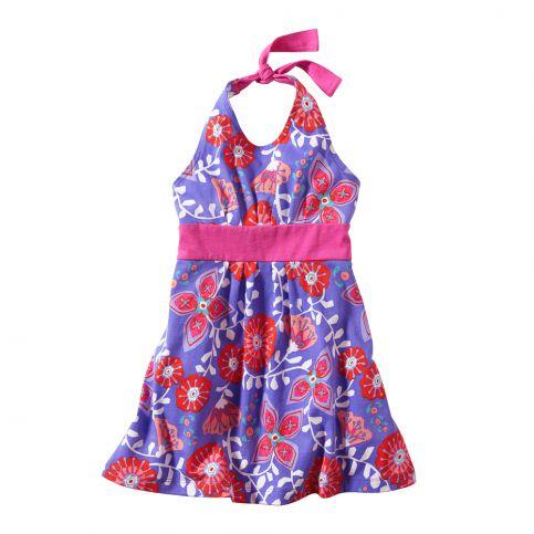 Royal Flower Halter Dress