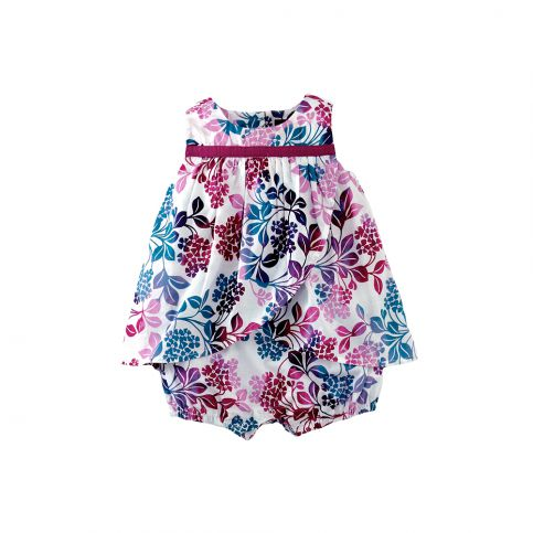 Hydrangea Garden Ruffle Dress