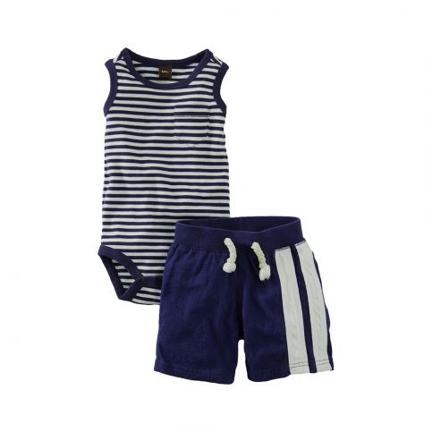 Harbor Stripe Tank Outfit