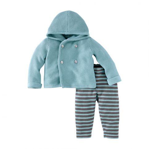 Blauer Junge Baby Sweater Set