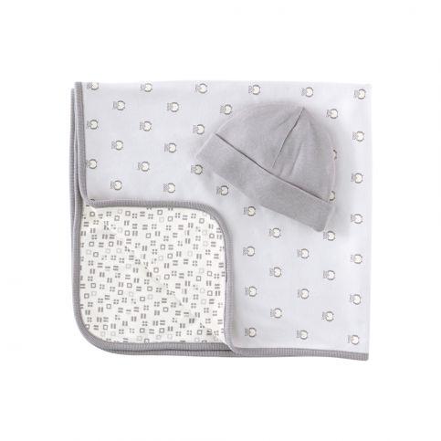 kleine Eulen Hat & Blanket Set