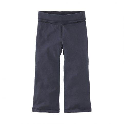 Solid Fold-Over Bootcut Pants