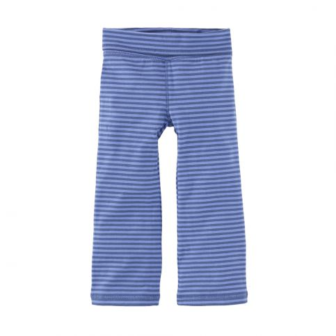 Striped Fold-Over Bootcut Pant
