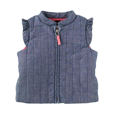 Clotilde Chambray Quilted Vest