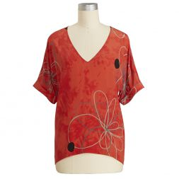 Designer Women's Clothes Sale Hiddensee Silk Blouse Tea