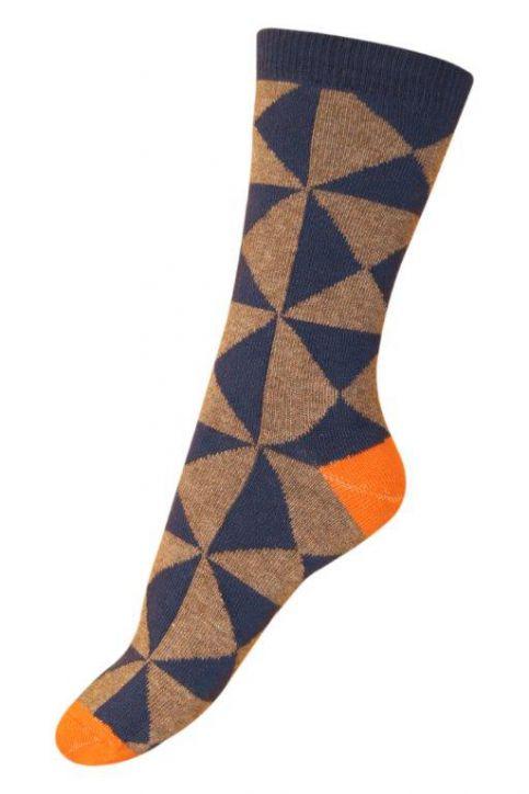 Melton Graphic Sock | Tea Collection