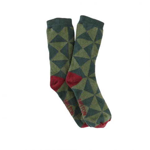 Melton Graphic Sock | Tea Collection
