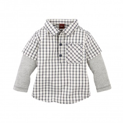 Global Plaid Double-Decker Shirt | Tea Collection
