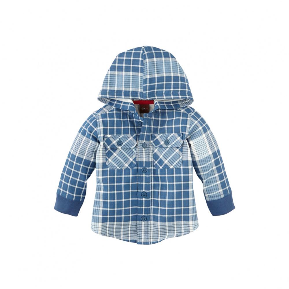 Tea Collection Khadi Plaid Hooded Jacket