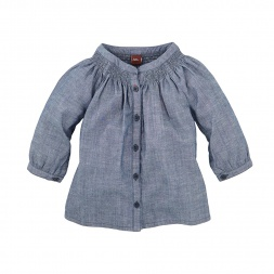 Citizen Chambray Button-Front Top