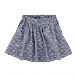 Unity Dot Chambray Twirl Skirt | Tea Collection