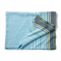 Green Stripe Suryasta Blanket | Tea Collection