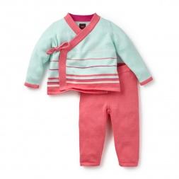 Pink Stripe Suryasta Sweater Set | Tea Collection