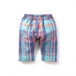 Stitch Society Madras Baby Pants | Tea Collection