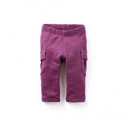 Skinny French Terry Baby Cargos | Tea Collection