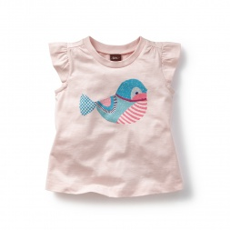 Stitched Bird Graphic Tee | Tea Collection