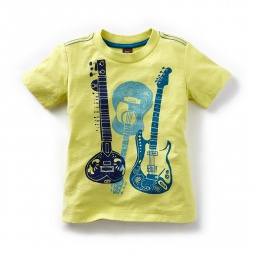 Sitar Guitar Graphic Tee | Tea Collection