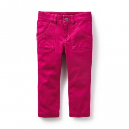 Girls Slim Utility Pants | Tea Collection