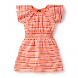Pink City Smock Waist Dress