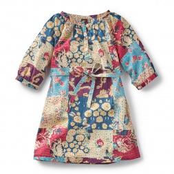 Patchwork Kantha Button Dress