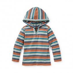 Bandoola Stripe Happy Hoodie | Tea Collection