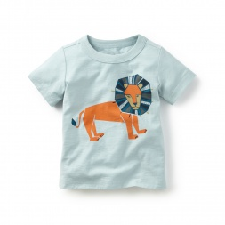Patchwork Lion Graphic Tee | Tea Collection