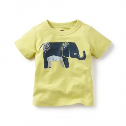 Patchwork Elephant Graphic Tee | Tea Collection