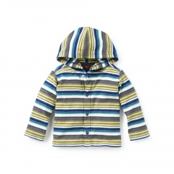 Bandoola Stripe Snap Hoodie | Tea Collection