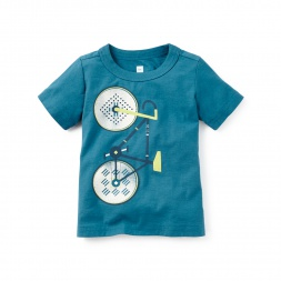 Little Ralli Bike Graphic Tee | Tea Collection