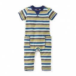Bandoola Stripe Pocket Romper | Tea Collection