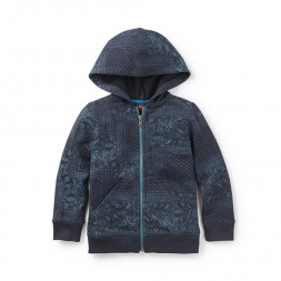 Paisley Patchwork Zip Hoodie | Tea Collection