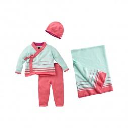 Pink Stripe Suryasta Set | Tea Collection