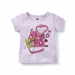 Baby Langur Graphic Tee for Girls | Tea Collection