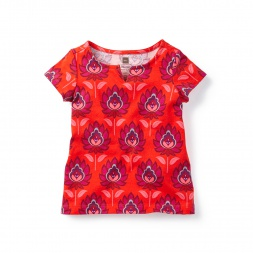 Lotus Notch Top for Baby Girls | Tea Collection