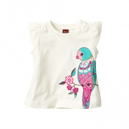 Calico Parakeet Graphic Tee for Baby Girls | Tea Collection